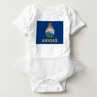 Body Para Bebê Bandeira de Kansas