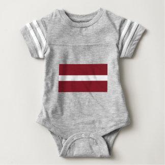 Body Para Bebê Bandeira de Latvia