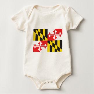 Body Para Bebê Bandeira de Maryland