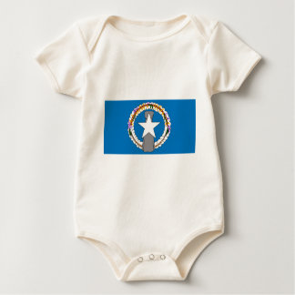 Body Para Bebê Bandeira de Northern Mariana Islands (EUA)