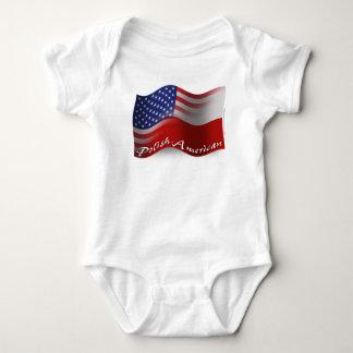 Body Para Bebê Bandeira de ondulação Polimento-Americana