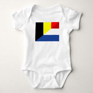 Body Para Bebê bandeira de país da bandeira de Bélgica do
