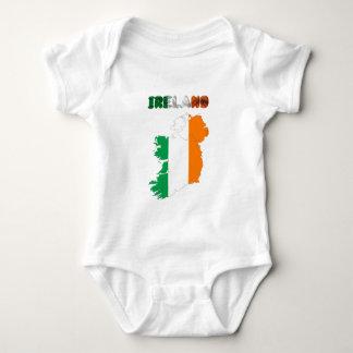 Body Para Bebê Bandeira de país irlandesa