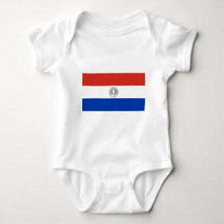Body Para Bebê Bandeira de Paraguai - bandera de Paraguai