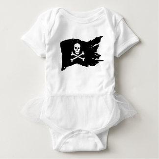 Body Para Bebê Bandeira de pirata
