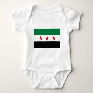Body Para Bebê Bandeira de Syria - bandeira síria da