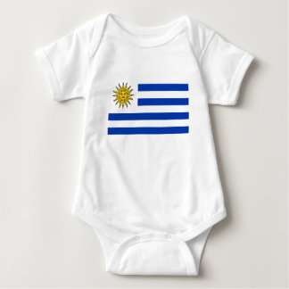 Body Para Bebê Bandeira de Uruguai