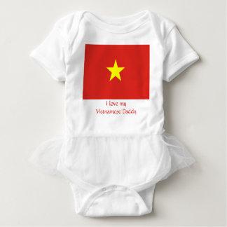 Body Para Bebê Bandeira de Vietnam