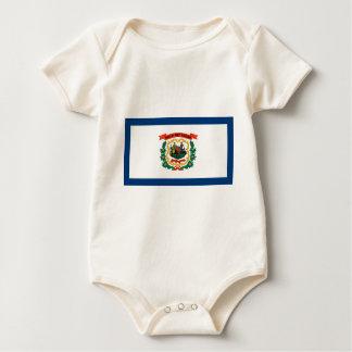Body Para Bebê Bandeira de West Virginia