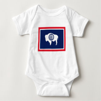Body Para Bebê Bandeira de Wyoming