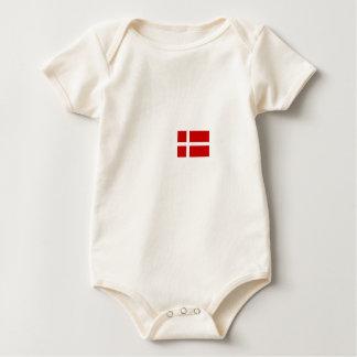 Body Para Bebê Bandeira dinamarquesa