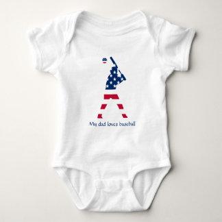 Body Para Bebê Bandeira do americano do basebol de América