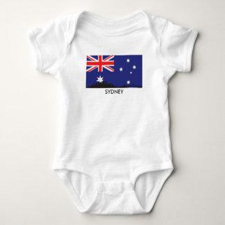 Body Para Bebê Bandeira do australiano da skyline de Sydney