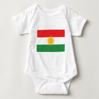 Body Para Bebê Bandeira do Curdistão (Curdistão de Alay ou Alaya