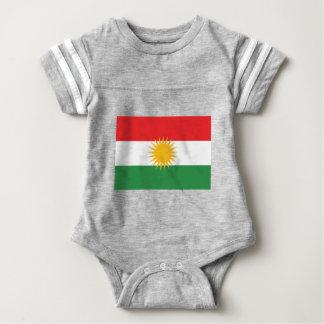 Body Para Bebê Bandeira do Curdistão; Curdo; Curdo