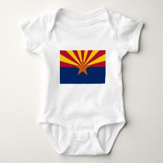 Body Para Bebê Bandeira do estado da arizona