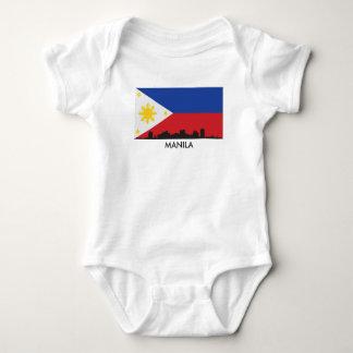 Body Para Bebê Bandeira do filipino da skyline de Manila