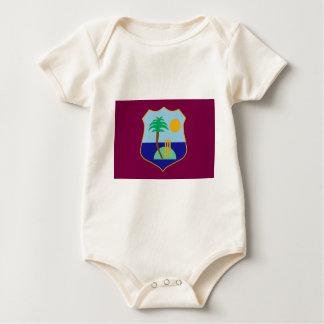 Body Para Bebê Bandeira do grilo das Índias Ocidentais