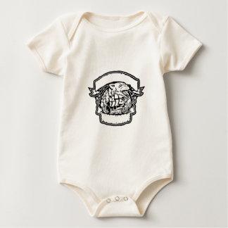 Body Para Bebê Bandeira do navio de pirata do lobo retro