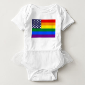 Body Para Bebê Bandeira do orgulho do arco-íris dos E.U.