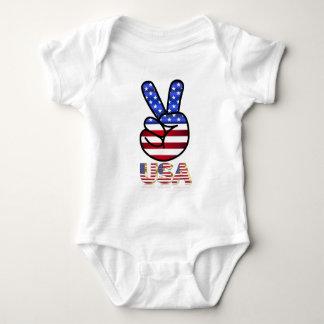 Body Para Bebê Bandeira dos Estados Unidos