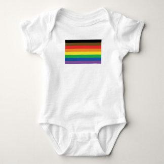 Body Para Bebê Bandeira expandida LGBT customizável do arco-íris
