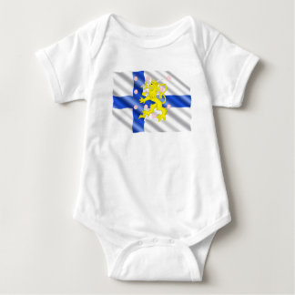 Body Para Bebê Bandeira finlandesa