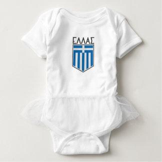 Body Para Bebê Bandeira grega