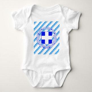 Body Para Bebê Bandeira grega das listras