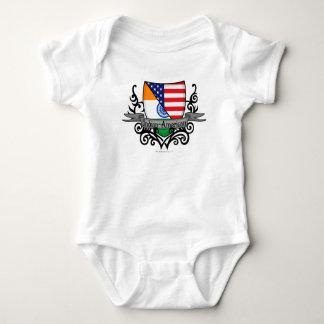 Body Para Bebê Bandeira Indiano-Americana do protetor