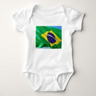 Body Para Bebê Bandeira internacional Brasil