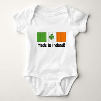 Body Para Bebê Bandeira irlandesa 'feita em Ireland