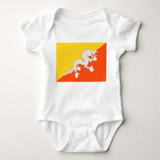 Body Para Bebê Bandeira nacional do mundo de Bhutan