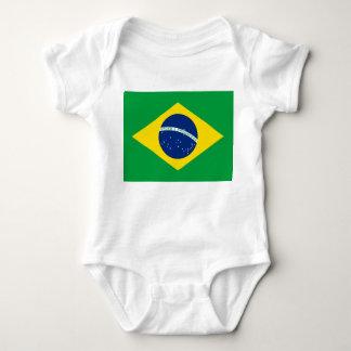 Body Para Bebê Bandeira nacional do mundo de Brasil