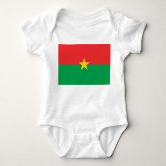 Body Para Bebê Bandeira nacional do mundo de Burkina Faso