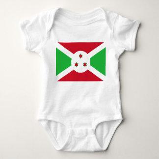 Body Para Bebê Bandeira nacional do mundo de Burundi