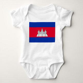 Body Para Bebê Bandeira nacional do mundo de Cambodia
