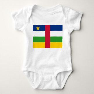 Body Para Bebê Bandeira nacional do mundo de Central African