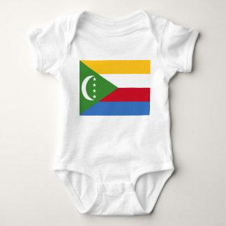 Body Para Bebê Bandeira nacional do mundo de Cômoros