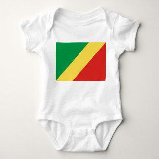 Body Para Bebê Bandeira nacional do mundo de Congo