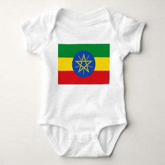 Body Para Bebê Bandeira nacional do mundo de Etiópia