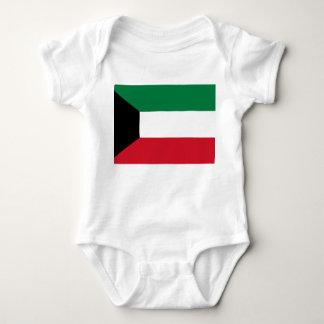 Body Para Bebê Bandeira nacional do mundo de Kuwait