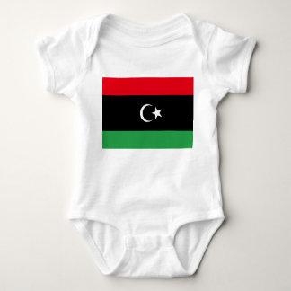 Body Para Bebê Bandeira nacional do mundo de Líbia