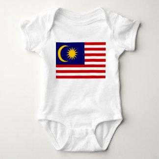 Body Para Bebê Bandeira nacional do mundo de Malaysia