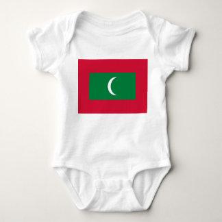 Body Para Bebê Bandeira nacional do mundo de Maldives