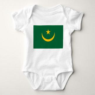 Body Para Bebê Bandeira nacional do mundo de Mauritânia