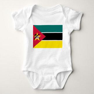 Body Para Bebê Bandeira nacional do mundo de Mozambique