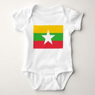 Body Para Bebê Bandeira nacional do mundo de Myanmar