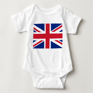 Body Para Bebê Bandeira nacional do mundo de Reino Unido