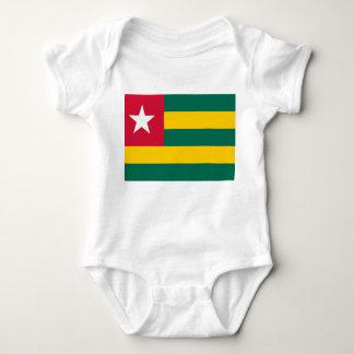 Body Para Bebê Bandeira nacional do mundo de Togo
